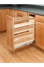 POB-448-BC-5C | Base Cabinet Pullout Organizer with Wood Adjustable Shelves Sink & Base Accessories