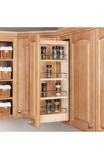 POW-448-WC | Wall Cabinet Pullout Organizer with Wood Adjustable Shelves Wall Accessories