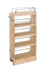 POW-448-HP-523C | Wall Cabinet Pullout Hood Organizer with Wood Adjustable Shelves Wall Accessories