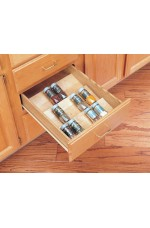 SD-4SDI-18 | Cut-To-Size Insert Wood Spice Organizer for Drawers