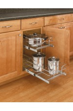 POB-5WB2-18 | Base Cabinet Pullout 2 Tier Wire Basket Sink & Base Accessories (Reduced Depth)