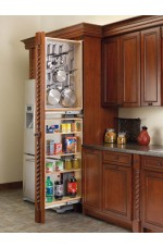 FPT-434-TFL | Tall Filler Pullout Organizer with Stainless Panel (Left Handed) Tall/Pantry Accessories