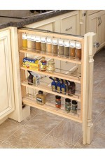 FPB-432-BF | Base Filler Pullout Organizer with Wood Adjustable Shelves Sink & Base Accessories