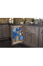 FPB-434-BFBBSC | Base Filler Pullout Organizer with Ball-Bearing Soft-Close / Stainless Panel Sink & Base Accessories