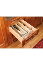 4WUT-1 | Cut-To-Size Insert Wood Utensil Organizer for Drawers