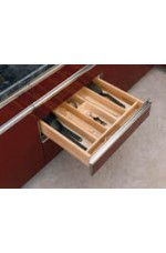 4WUT-3 | Cut-To-Size Insert Wood Utensil Organizer for Drawers