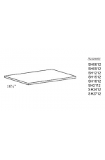 "SH0612 | 06"" wide x 12"" deep Shelf"