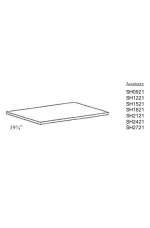 "SH0621 | 06"" wide x 21"" deep Shelf"