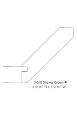 """PAINTED M-3 5/8 Shaker Crown w/soffit   96"""" long"""