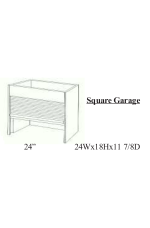 AG-AGS24WH | Appliance Garage Square 24WH