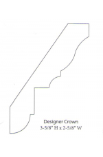 "PAINTED M-Designer Crown | 96"" long"
