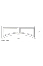WV-Raised Panel Valance | Wood Valance